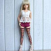 Куклы и игрушки ручной работы. Ярмарка Мастеров - ручная работа Одежда для БЖД кукол Шорты трикотажные. Handmade.