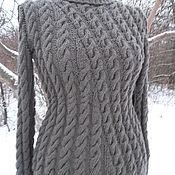 Одежда ручной работы. Ярмарка Мастеров - ручная работа свитер спицами Кофе со льдом. Handmade.