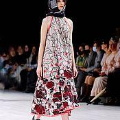 Одежда handmade. Livemaster - original item Summer loose linen sundress, midi from the collection