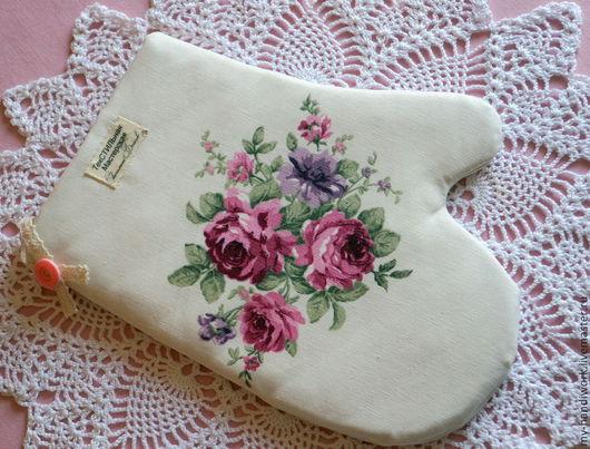 """Кухня ручной работы. Ярмарка Мастеров - ручная работа. Купить Прихватки """"Французская мечта"""". Handmade. Бледно-розовый, кухня, розы"""