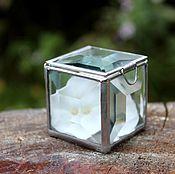 Свадебный салон handmade. Livemaster - original item Box. Box of glass. Silver small jewelry box. Handmade.