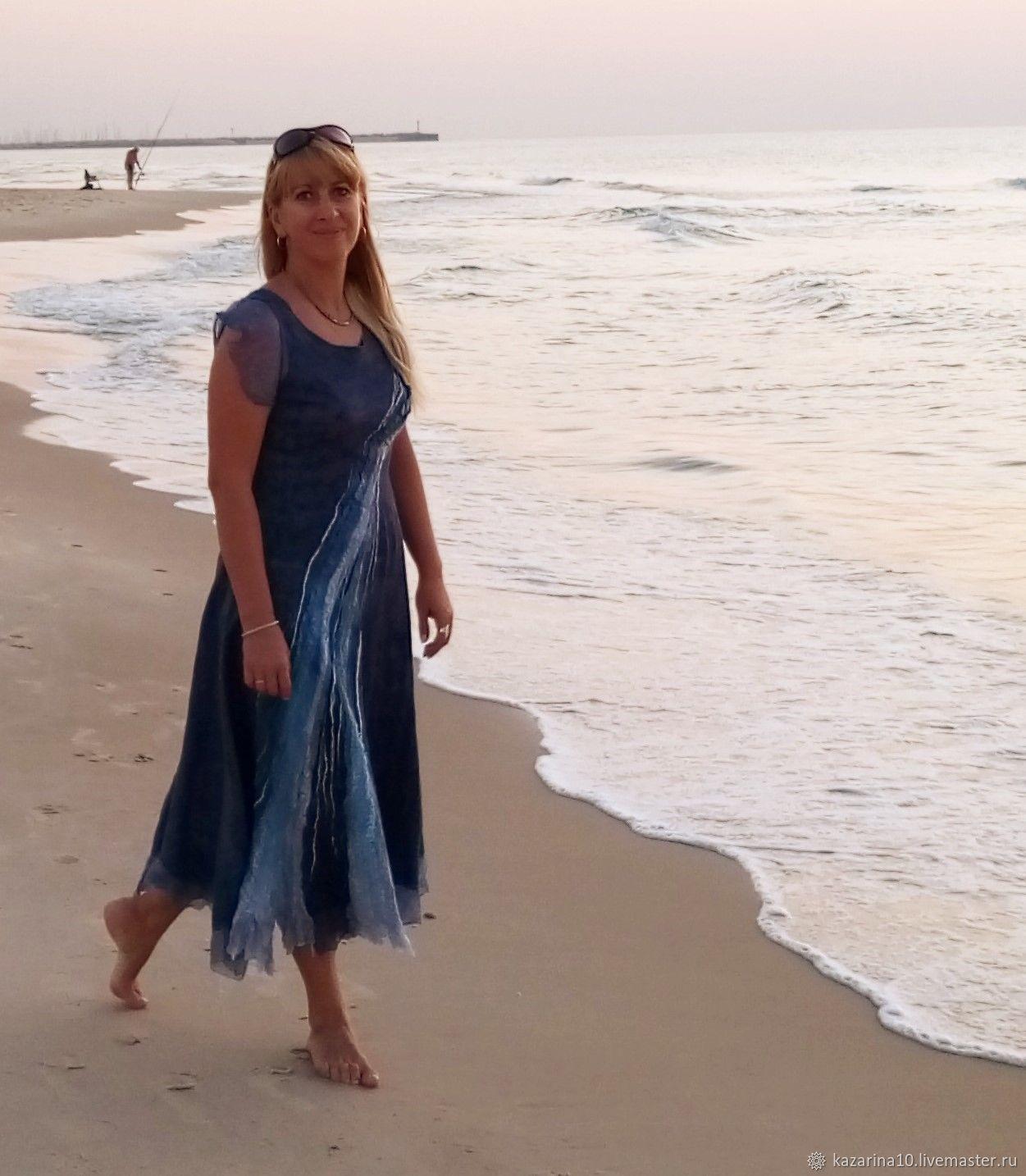 Crochet dress 'Sea', Dresses, Moscow,  Фото №1