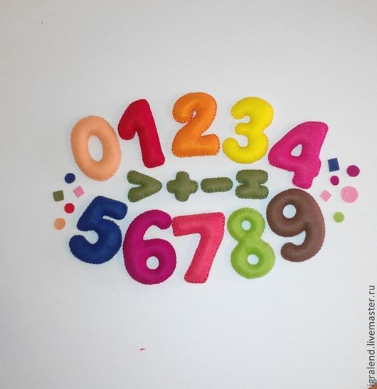 Развивающие игрушки ручной работы. Ярмарка Мастеров - ручная работа. Купить Цифры из фетра. Handmade. Фетр, цифры, ручная работа