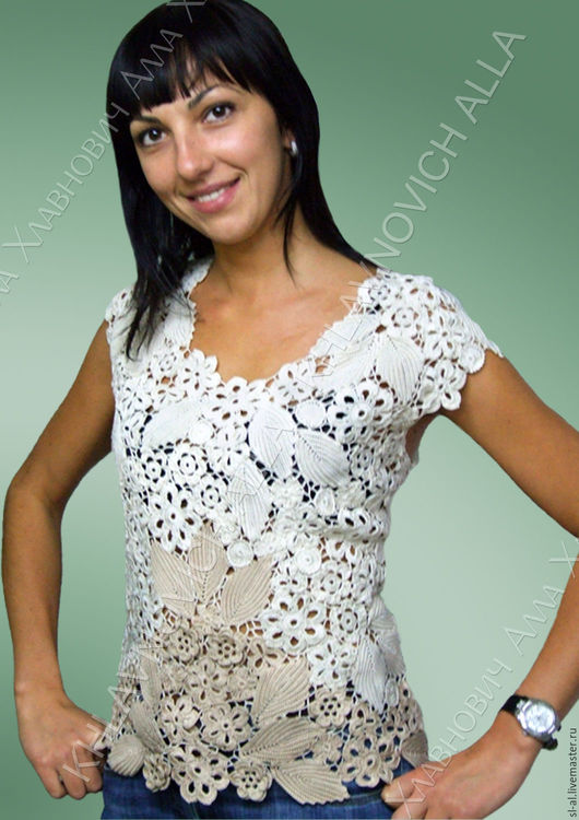 """Блузки ручной работы. Ярмарка Мастеров - ручная работа. Купить Блуза """"Татьянин день"""" Модель №461. Handmade. Комбинированный"""