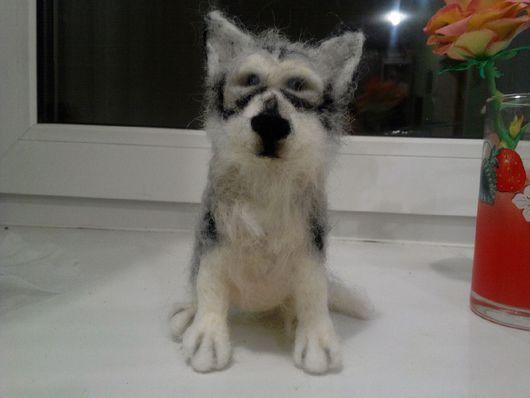 Игрушки животные, ручной работы. Ярмарка Мастеров - ручная работа. Купить Аляскинский МАЛАМУТ.собака валяная из шерсти. Handmade.