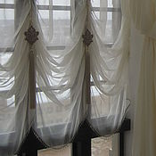Для дома и интерьера handmade. Livemaster - original item French curtains in hall. Handmade.