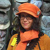 Аксессуары ручной работы. Ярмарка Мастеров - ручная работа авторский комплект  кепка- капитанка с шарфом. Handmade.