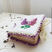 """Блокноты ручной работы. Ярмарка Мастеров - ручная работа Блокнот ручной работы """"Любимая сирень"""". Handmade."""
