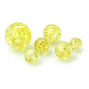 Материалы для творчества handmade. Livemaster - original item Ball-amber10mm-Lemon color husked-Drilled. Handmade.
