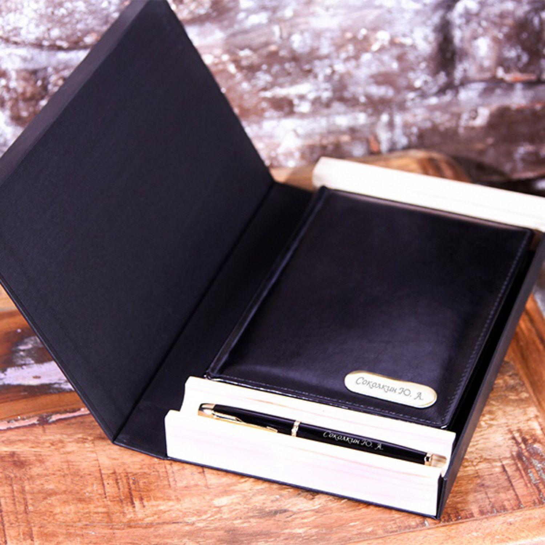 Набор ручка Parker и ежедневник с гравировкой в подарочной коробке, Ручки, Москва,  Фото №1
