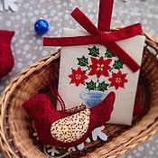 Подарки к праздникам ручной работы. Ярмарка Мастеров - ручная работа Набор елочных украшений. Handmade.