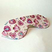 """Одежда ручной работы. Ярмарка Мастеров - ручная работа Маска для сна """"Нежные розы"""". Handmade."""