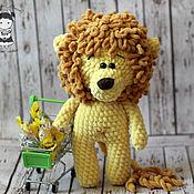 Куклы и игрушки handmade. Livemaster - original item Toy lion curly. Handmade.