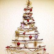 Подарки к праздникам handmade. Livemaster - original item Christmas tree wall Christmas tree Driftwood. Handmade.