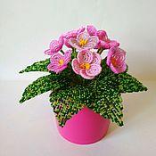 Цветы ручной работы. Ярмарка Мастеров - ручная работа Розовая фиалка. Handmade.