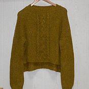 Одежда ручной работы. Ярмарка Мастеров - ручная работа Вязаный свитер Монвизо, 50% шерсть, 50% пух яка Alta Moda. Handmade.