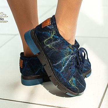 Обувь ручной работы. Ярмарка Мастеров - ручная работа Туфли: Туфли валяные abstraction 1. Handmade.