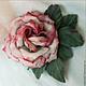 """Цветы ручной работы. Ярмарка Мастеров - ручная работа. Купить Роза из шелка """"Amore mio"""" и брошь и украшение для волос. Handmade."""