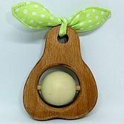 Куклы и игрушки handmade. Livemaster - original item Wooden rattle with peas pear toy. Handmade.