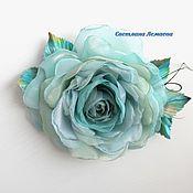 Украшения handmade. Livemaster - original item FABRIC FLOWERS. Tiffany Chiffon Rose Brooch