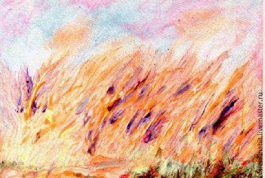 """Картина """"Радостное настроение"""" (оранжевый, фиолетовый), Картины, Москва,  Фото №1"""