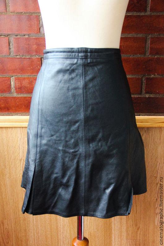 Одежда. Ярмарка Мастеров - ручная работа. Купить Кожаная юбка Lapelle винтаж. Handmade. Черный, юбка, винтаж, винтажная юбка