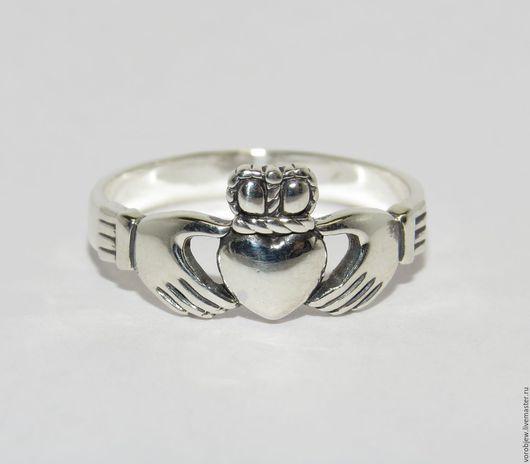 """Кольца ручной работы. Ярмарка Мастеров - ручная работа. Купить """"Кладдахское кольцо"""" серебро 925 пробы классика. Handmade."""