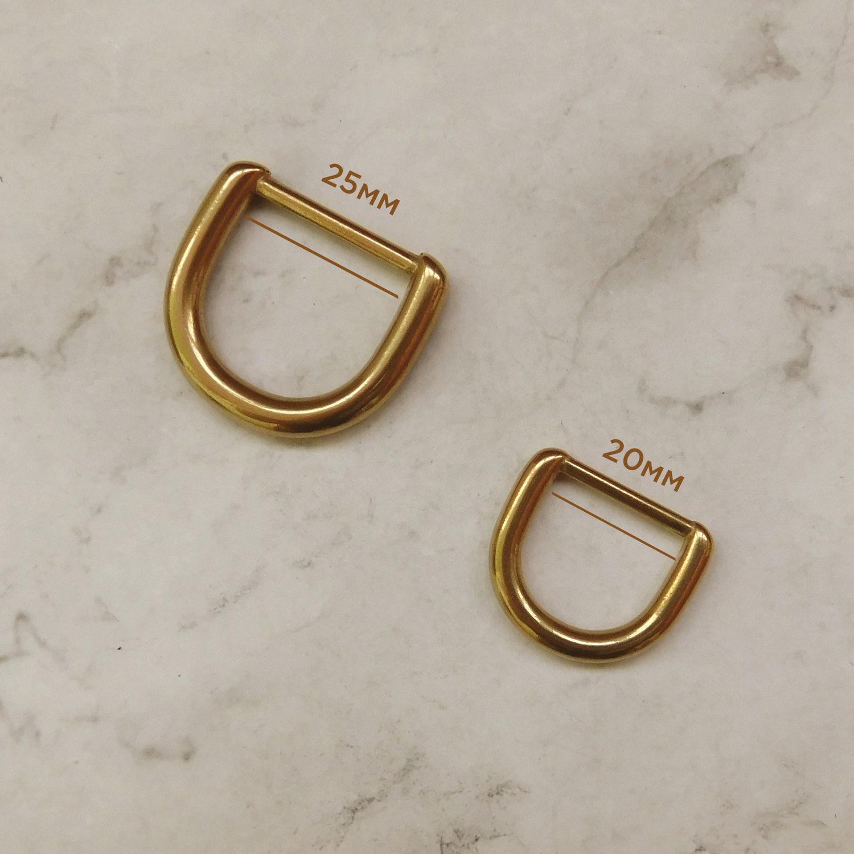 Латунное D-кольцо литое, усиленное, 20 и 25мм, Фурнитура, Дубна,  Фото №1