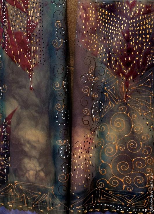 Шали, палантины ручной работы. Ярмарка Мастеров - ручная работа. Купить Батик палантин по мотивам картин Г. Климта,  ручная роспись шелк. Handmade.