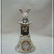 "Kolokolchiki handmade. Livemaster - original item Author the bell of thin-walled porcelain ""for Alice. Handmade."