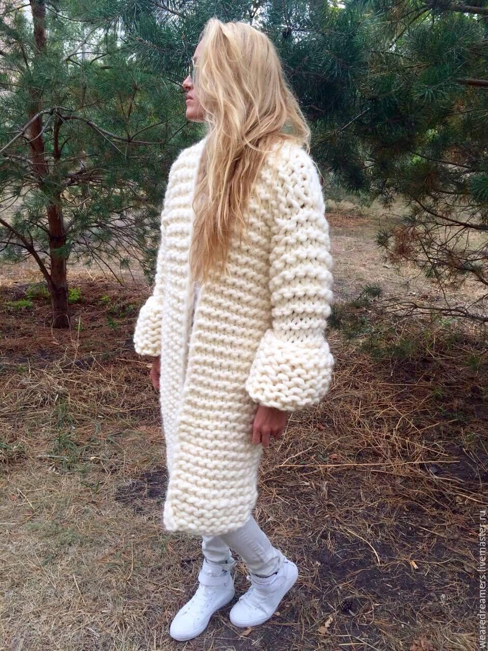Пальто из ниток своими руками