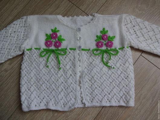 Одежда для девочек, ручной работы. Ярмарка Мастеров - ручная работа. Купить Кофточка для девочки. Handmade. Комбинированный, кофточка, вязание