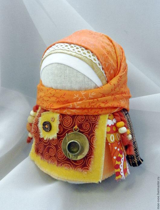 Народные куклы ручной работы. Ярмарка Мастеров - ручная работа. Купить Девочка с кофейной чашкой. Handmade. Рыжий, народные традиции