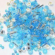 Материалы для творчества handmade. Livemaster - original item 10g Toho MIX 3223 azure Japanese TOHO beads. Handmade.