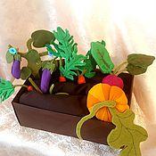 """Куклы и игрушки ручной работы. Ярмарка Мастеров - ручная работа Фетровые овощи """"Весёлая грядка """". Handmade."""