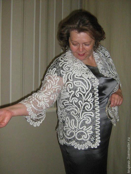 "Suit Jackets & Blazers handmade. Livemaster - handmade. Buy Жакет кружевной  ""Элен"".Jacket, bobbin lace, ojeda, len"