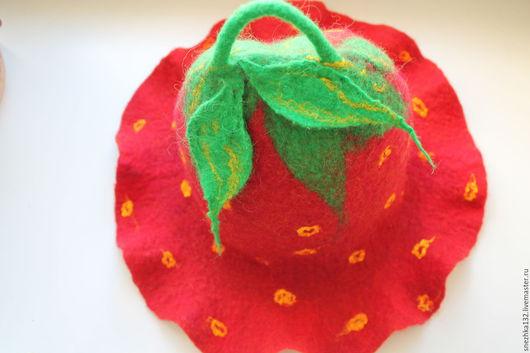 """Банные принадлежности ручной работы. Ярмарка Мастеров - ручная работа. Купить Шапка банная валяная красная """"Сладкая ягодка"""". Handmade."""