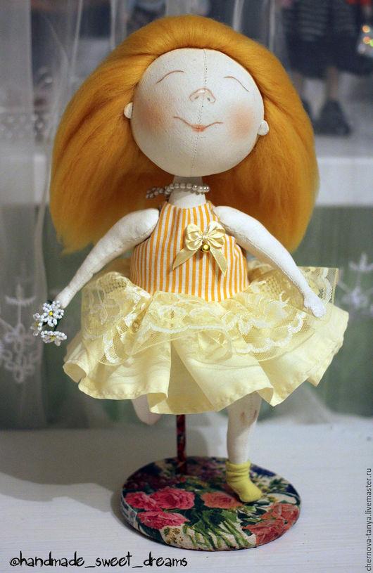 Коллекционные куклы ручной работы. Ярмарка Мастеров - ручная работа. Купить Рыжуля. Handmade. Желтый, рыжик, подарок, по мотивам гапчинской