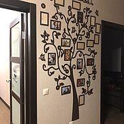 Скульптуры ручной работы. Ярмарка Мастеров - ручная работа Семейное дерево с фоторамками 120x200. Handmade.