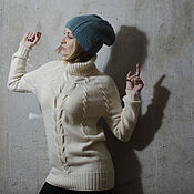 Одежда ручной работы. Ярмарка Мастеров - ручная работа Классический белый свитер Dream  итальянская пр. Handmade.