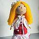 Коллекционные куклы ручной работы. Ярмарка Мастеров - ручная работа. Купить Кукла Солнышко. Handmade. Разноцветный, кукла, платье в горошек