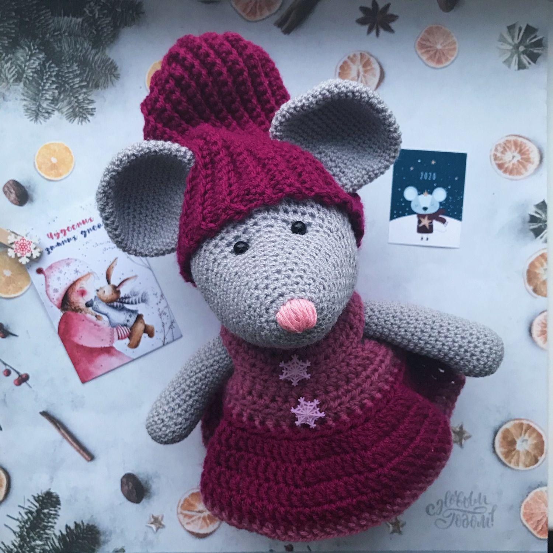 Вязаная мышка, Мягкие игрушки, Петрозаводск,  Фото №1