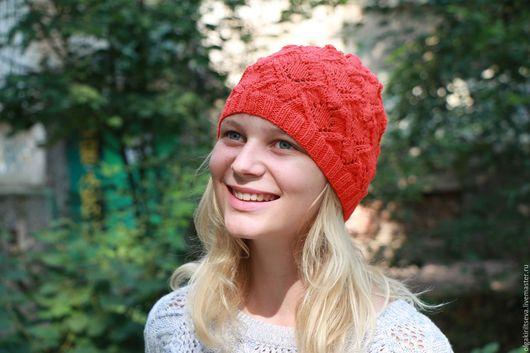 """Вязание ручной работы. Ярмарка Мастеров - ручная работа. Купить Описание по вязанию шапки """"Коралл"""", мк шапки, мк по вязанию. Handmade."""