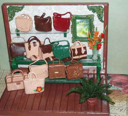 Кукольный дом ручной работы. Ярмарка Мастеров - ручная работа. Купить Дамские сумки. Handmade. Кукольная миниатюра