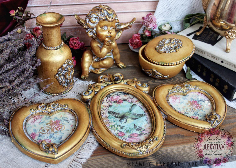 Будуарный набор «Золотые Ангелы», Подарочные боксы, Краснодар,  Фото №1