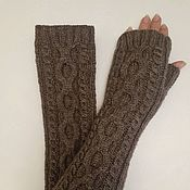 Аксессуары handmade. Livemaster - original item Long knitted fingerless gloves Isabelle, 240. Handmade.