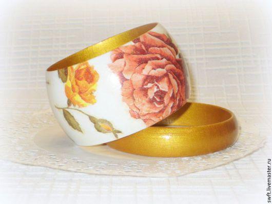 белый оранжевый желтый роза стильный модный  женский недорогой деревянный браслет недорого подарок что подарить девушке женщине сестре жене подруге маме  на 8 марта день рождения дерево