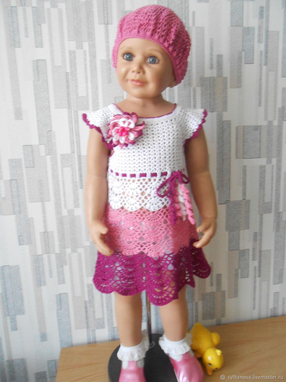 Детское платье связанное крючком