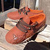 Обувь ручной работы. Ярмарка Мастеров - ручная работа Валяные туфли Осенние бабочки. Handmade.