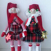 Куклы и игрушки ручной работы. Ярмарка Мастеров - ручная работа Тильда новогодняя. Handmade.